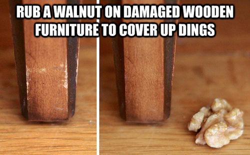 restaurar muebles usando nuez
